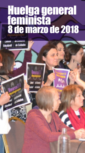 El feminismo es una de las piedras angulares de USTEA. El sindicato, parte activa de todas las movilizaciones feministas desde sus orígenes, fue pilar fundamental de este histórico 8M, al convocar y preparar una huelga general de 24 h tal y como demandaba el movimiento feminista.