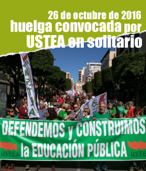Ante los continuos recortes y los despidos de docentes, USTEA convoca huelga general en la educación andaluza. Único sindicato andaluz que demostró su compromiso con la educación pública en una jornada histórica de lucha.