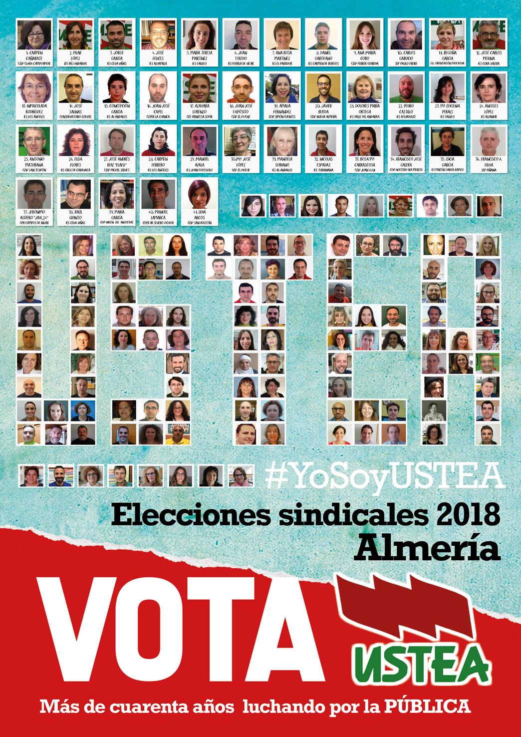 Elecciones sindicales2018 a quién votar Ustea Almería