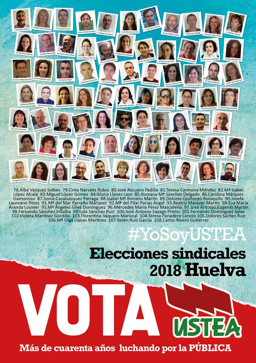 Elecciones sindicales2018 a quién votar Ustea Huelva