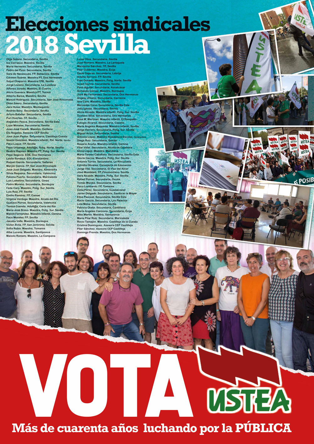 Elecciones sindicales 2018 a quién votar Sevilla